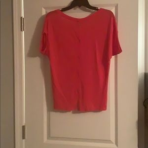 Express faux button-back top
